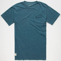 Lira Yank Mens Pocket Tee Navy  In Sizes