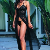 On Sale Hot Deal Cute Lace Transparent See Through Spaghetti Strap Dress Sexy Exotic Lingerie [6594736387]