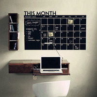 Removable Vinyl Chalkboard Calender