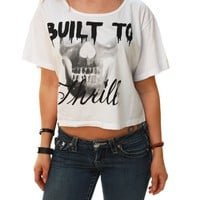 Metal Mulisha Women's Built To Thrill Short Sleeve Scoop Neck Crop Top