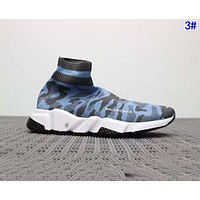 Balenciaga Woman Men Boots Fashion Breathable Camouflage Sneakers Running Shoes 3#