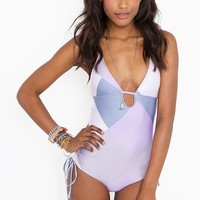 Retro Maze Swimsuit in  What's New at Nasty Gal