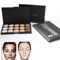 BRAND Professional 15 colors Concealer Palette contour palette Face Cream Care Camouflage Makeup base Cosmetics  Free Shipping