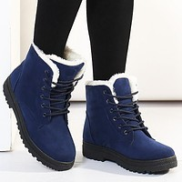 Plush Suede Winter Flock Boots