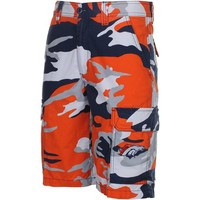 Denver Broncos Tailgate Camo Shorts - Orange/Navy Blue