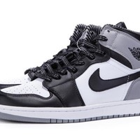 Nike Air Jordan OG Retro 1 High BARONS I Baron White/Black 9 Oreo Shadow Basketball Sneaker