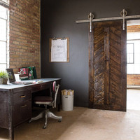 Rustic Industrial European Sliding Steel Barn Wood Door Closet Hardware Track  FREE SHIPPING