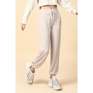 Breathe Easy Joggers - Taupe