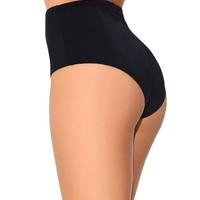 Electro High Waisted Booty Shorts, Brief Style Bottoms for Dance, Raves, and Swim