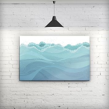 Abstract WaterWaves - Fine-Art Wall Canvas Prints
