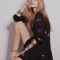 Summer Embroidery V-neck Mini One Piece Dress [4918392132]