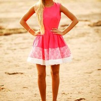 Hot Pink Kick Out Dress from Aleena's Boutique