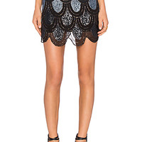 Dame Skirt in Black Ombre
