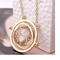 New Vintage Unisex Collar Harry Movie Rotating Time Turner Necklace Hourglass Pendent