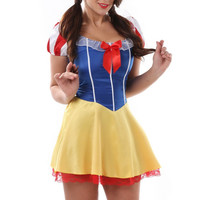 Plus Size Snow White Costume For Women Sexy Fairy Tale Halloween costume Cosplay Carnival Fancy Dress