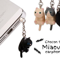 Hot Sale 4pcs/lot Original Model Japan style Cartoon Lucky Lazy Cats dust plug Cute Napping puppy 3.5mm plug universal Earphone Plug with Individual Delicate Retail package