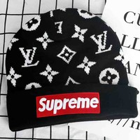LV x Supreme Fashion Casual Beanies Winter Knit Hat Cap G-A36H-MY