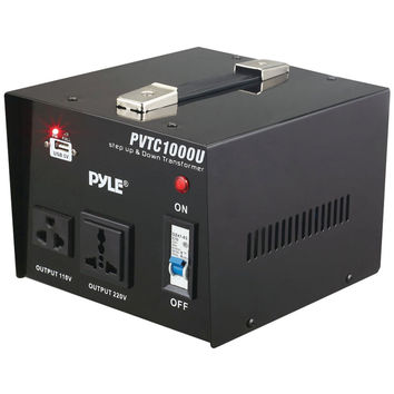 Pyle Step Up & Step Down Voltage Converter Transformer (1000 Watt)