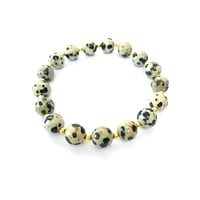Stretch Stacking Bracelet Dalmatian Jasper