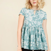 Rest and Reflection Peplum Top