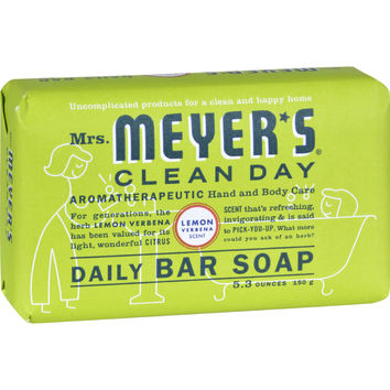 Mrs. Meyer's Bar Soap - Lemon Verbena - 5.3 Oz - Case Of 12