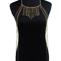Golden Fringed Chain Body Harness