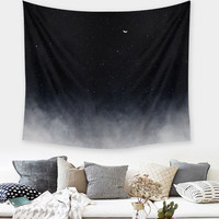 Indian Mandala Black Sky Polyester Tapestry 150X130cm Wall Hanging Throw Blanket Dorm Bedspread Mat Home Room Decor Textiles