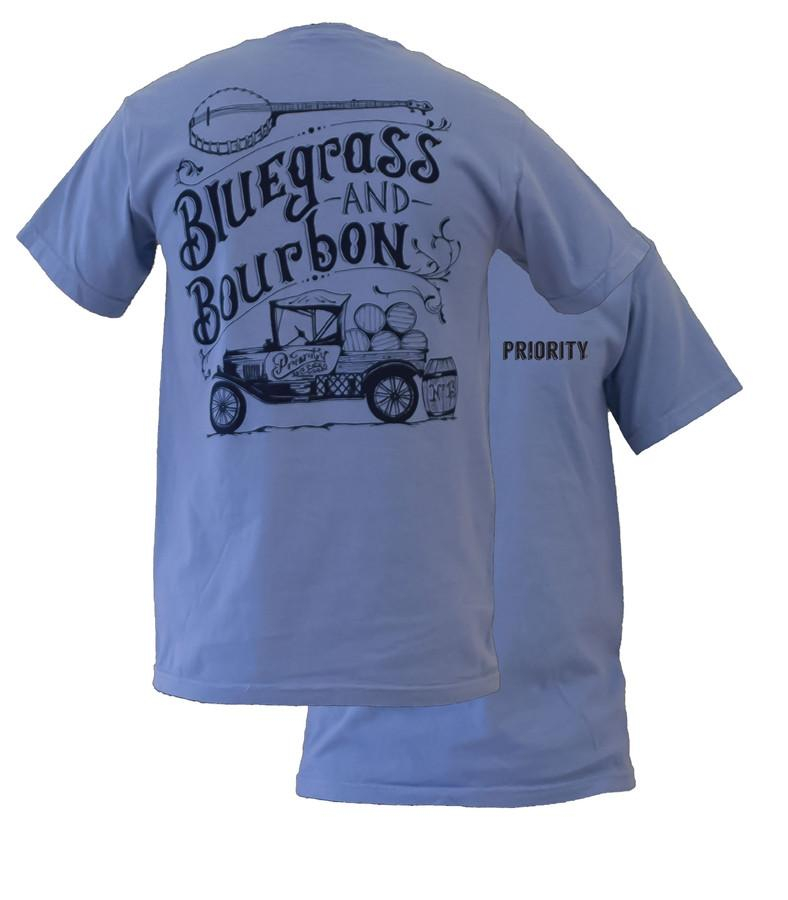 Image of Southern Couture High Priority Bluegrass & Bourbon Unisex Bright T Shirt