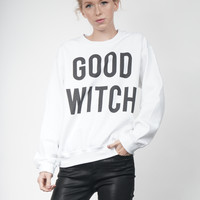 Good Witch Crewneck in White