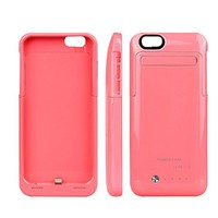 Iphone 6/6s Battery Case ,Gright® iPhone 6/6s External Protective Battery Case (4.7 inch)3500mAh Extended Battery Case Back Up Power Bank for iPhone 6 Back Up (iOS 7 or above Compatible) , Lightning Charging Port, Kick Stand, Slim Fit Slider Design(Pink)