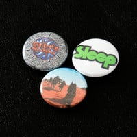"Sleep Pinback Buttons - 1"" Pins Stoner Rock Doom Metal Sleep Pin Dopesmoker High on Fire Om"