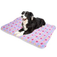 Print Wool Dog Sleeping Rest Blanket Mat