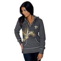 Majestic New Orleans Saints Cross Block Fleece Hoodie - Women's