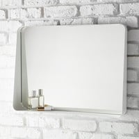 White Horizontal Arch Wall Mirror
