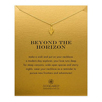 """Dogeared Gold Dipped Beyond The Horizon Cactus 16"""" Boxed Necklace"""