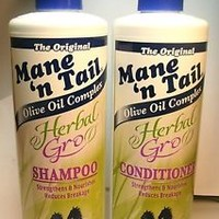 Mane 'n Tail Herbal Gro Shampoo  Conditioner Olive Oil Complex 12 oz, New