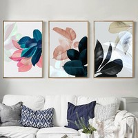 Nordic Poster New Plants Leaf Picture Art Print Wall Pictures For Living Room Wall Art Canvas Painting Posters Prints framed