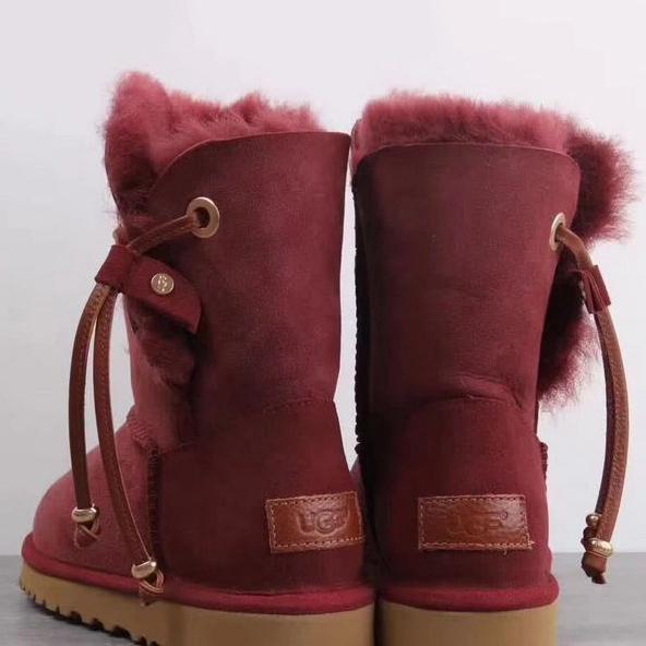 Image of UGG Women Fur Leather Shoes Boots Winter Half Boots Shoes
