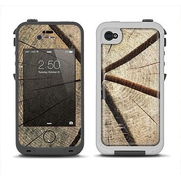 The Cracked Wooden Stump Apple iPhone 4-4s LifeProof Fre Case Skin Set