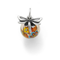 Dragonfly Finial with Orange Floral Charm | James Avery