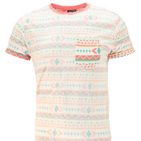 Aztec Printed T Shirt with Chest Pocket