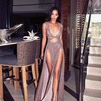 Rosegold Sexy Maxi Dress 11