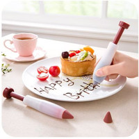 1Pc Food Cake Drawing Writing Pen Cream Cup Chocolate Decorating Pen