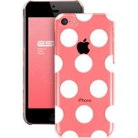 iPhone 5C Case, ESR the Beat Series Hard Clear Back Cover Snap on Case for iPhone 5C (Polka Dots)