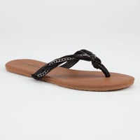 Volcom Beach Party Womens Sandals Black  In Sizes