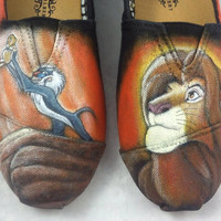 Custom Hand Painted Shoes - The Lion King