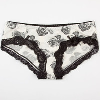 Roses Boyshorts Ivory  In Sizes
