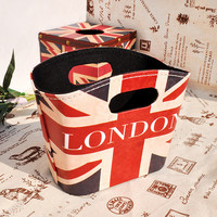 Home Decor Engliand Flag England Style Wooden Storage Bags Creative Gifts Storage Basket [6282891974]