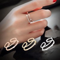 New Arrival Jewelry Shiny Gift 925 Silver Korean Stylish Fashion Simple Design Accessory Ring [7587128199]