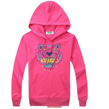 KENZO Women Fashion Embroidery Hoodie Top Sweater Pullover